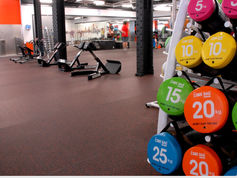 everroll® gym flooring in the Nuffield health Fitness & Wellbeing Center, London, UK