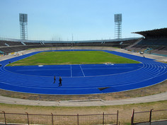 Regupol® tartan athletic track at the National Stadium in Kingston, Jamaica