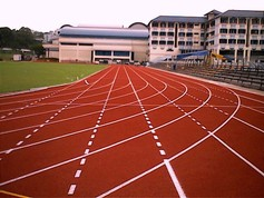 Regupol® tartan synthetic running track in Singapore