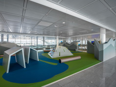 PUR seamless safety flooring playfix® indoor at Munich's airport