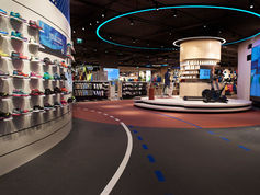 everroll® gym flooring was laid in a INTERSPORT store