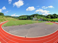 Regupol® PD IS synthetic running track at the Stadium in Fretter, Germany.