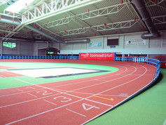 Regupol® AG synthetic running track at the Erfurt field house in Germany