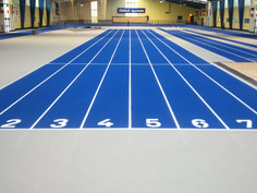 Regupol® AG tartan track in the athletics hall Fuerth, Germany