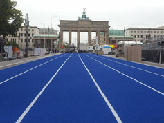 Regupol® running tracks at Berlin's famous Brandenburg Gate.