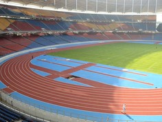 Regupol® tartan synthetic running track at the National Stadium of Kuala Lumpur.
