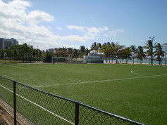 Large Park area equipped with Regupol® Elastic Shock Pads for Artificial Turf in Campo-Curva-da-Jurema
