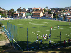 Football field with Regupol® Elastic Shock Pads for Artificial Turf - Campo-Parque-Barreiros, Brazil