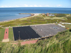 Helgoland dune, equipped with Regupol® Elastic Shock Pads for Artificial Turf