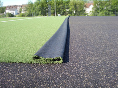 Football field in Hilchenbach covered with Regupol® Elastic Shock Pads for Artificial Turf