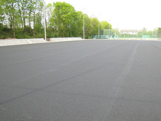 Sports facility in Mannheim, equipped with Regupol® Elastic Shock Pads for Artificial Turf