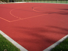 Game Court Surface in Iserlohn, Germany.
