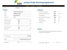 BSW product finder