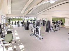 Elastic sports flooring in a fitness center in Wachtenberg