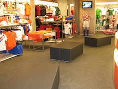 Niketown Shop in Berlin equipped with everroll® - elastic flooring system