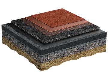 Application of EPDM granules for the wearing surface Regupol AG IS