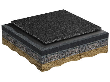 Application base mat consisting of rubber granules and polyurethane binders Regupol AG IS