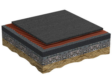 Coasting of the prefabricated base mat Regupol PD