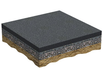 Asphalt layer on sub-ballast Regupol PD