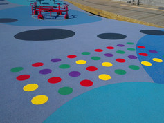 playfix® safety flooring with coloured dots.