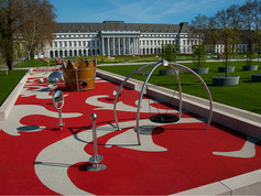 playfix®, the colourful safety flooring on this playground