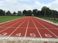 Regupol® synthetic running track at Zwolle, Netherlands in cooperation with Sika-Pulastic.