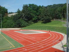 Regupol® AG IS synthetic running track at the Stadium in Gummersbach, Germany.